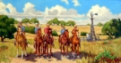 Southwest landscapes, Texas hill country, rural settings, horses and other Southwest themed original oil paintings by Flint Reed